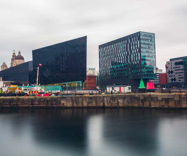 The city of Liverpool from the Mersey
