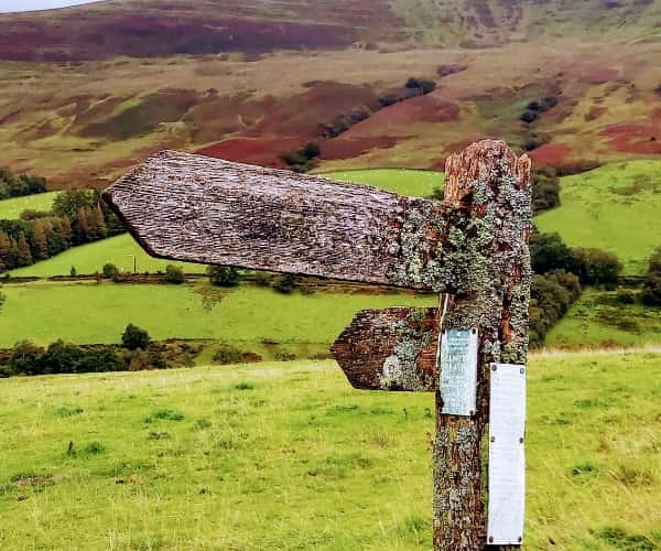Signpost in the Brecon Beacons