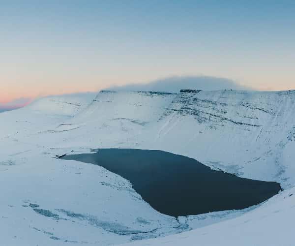 A winters view from the Llyn y Fan Fach circular
