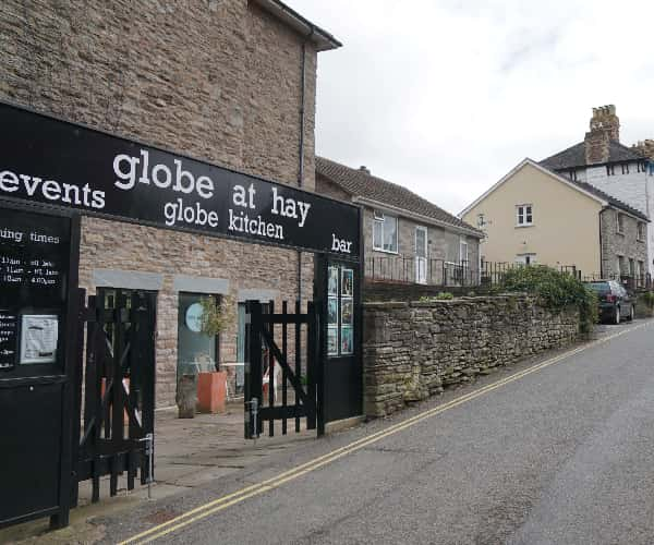 The famous Globe theatre in Hay-on-Wye