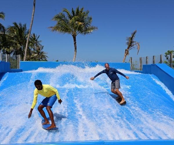 Cheval Blanc Randheli surf simulator in the Maldives