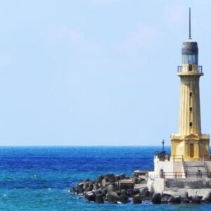 The excavation of historical antiquities submerged under Alexandria waters