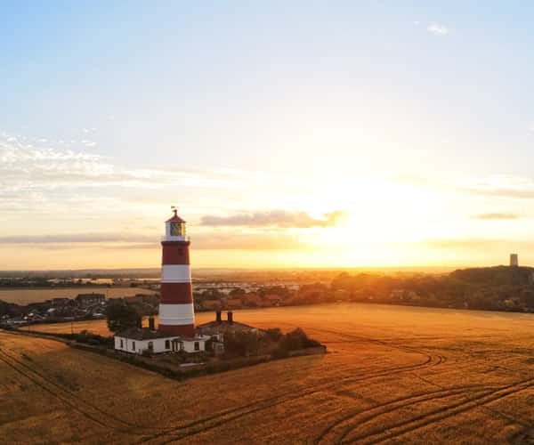An amazing view of Happisburgh Lighthouse in Norfolk