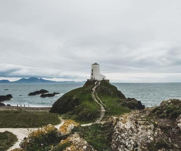 Llanddwyn point and lighthouse