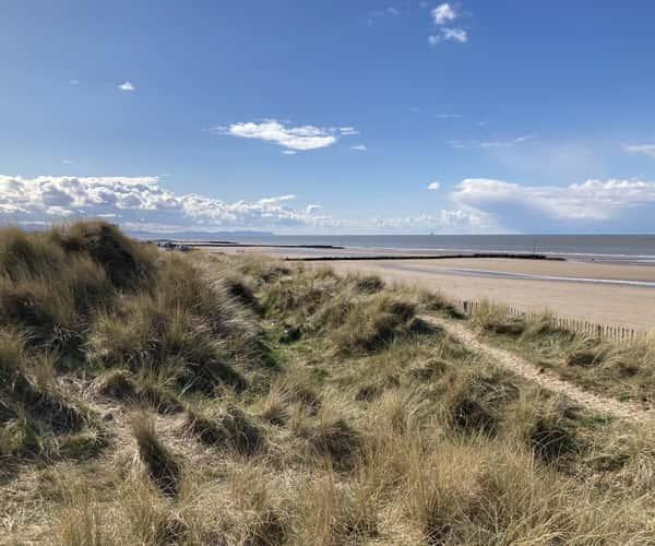 The beach at Prestatyn, North Wales